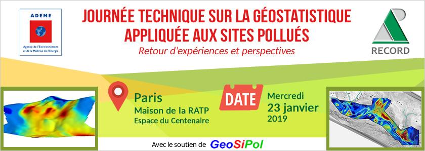 Journée technique sur la géostatistique appliquée aux sites pollués - 23 janvier 2019